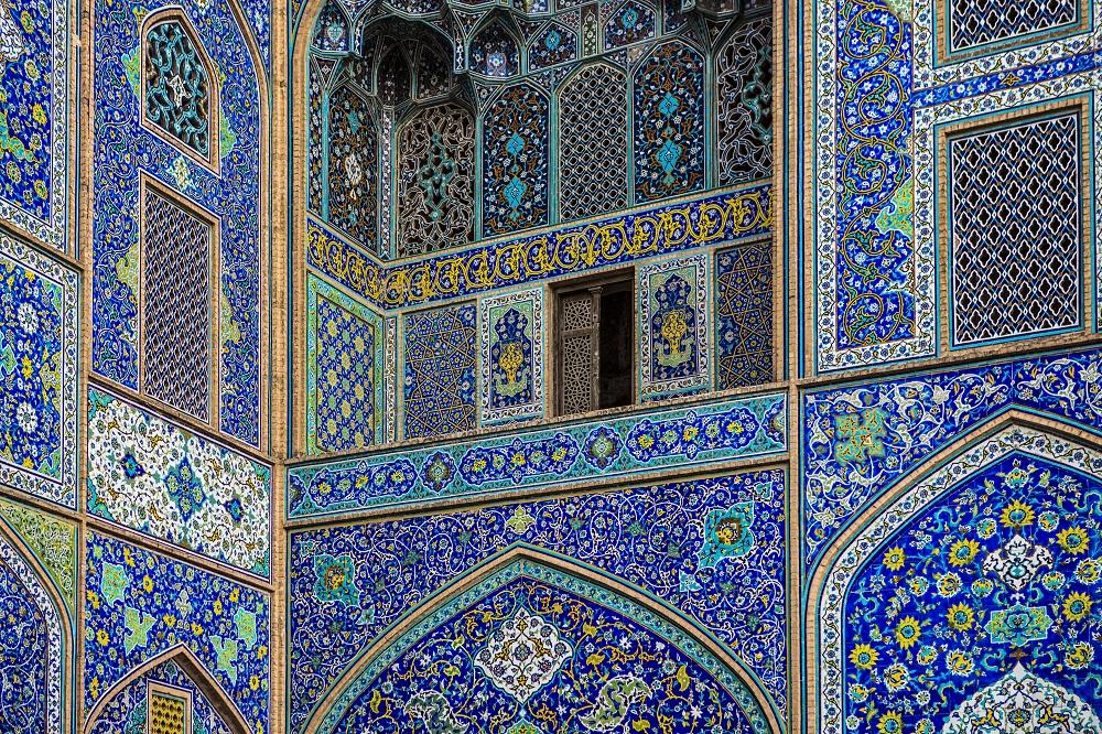 Típicos mosaicos en la arquitectura Iraní