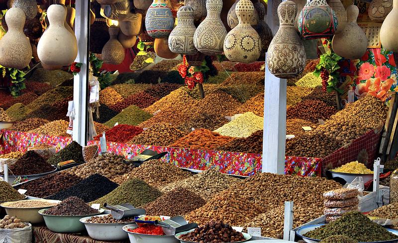 El Bazaar de Kashgar, con ilimitadas opciones para el paladar.